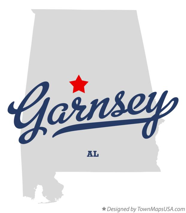 Map of Garnsey Alabama AL