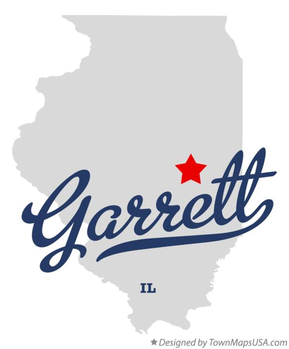 Map of Garrett Illinois IL