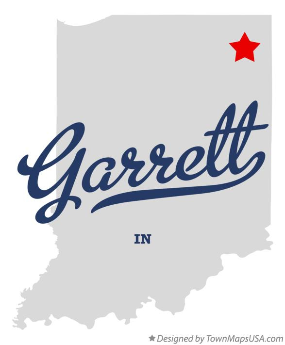 Map of Garrett Indiana IN