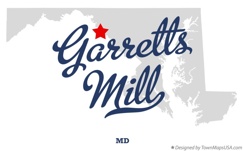 Map of Garretts Mill Maryland MD