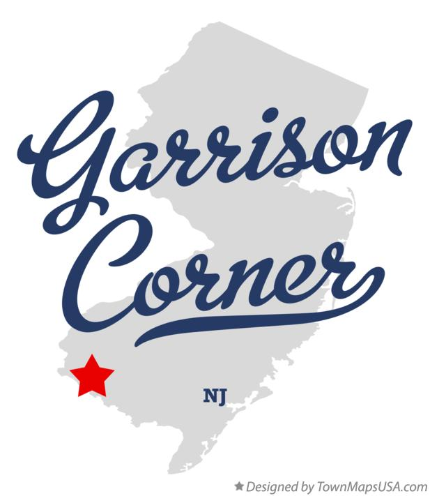 Map of Garrison Corner New Jersey NJ