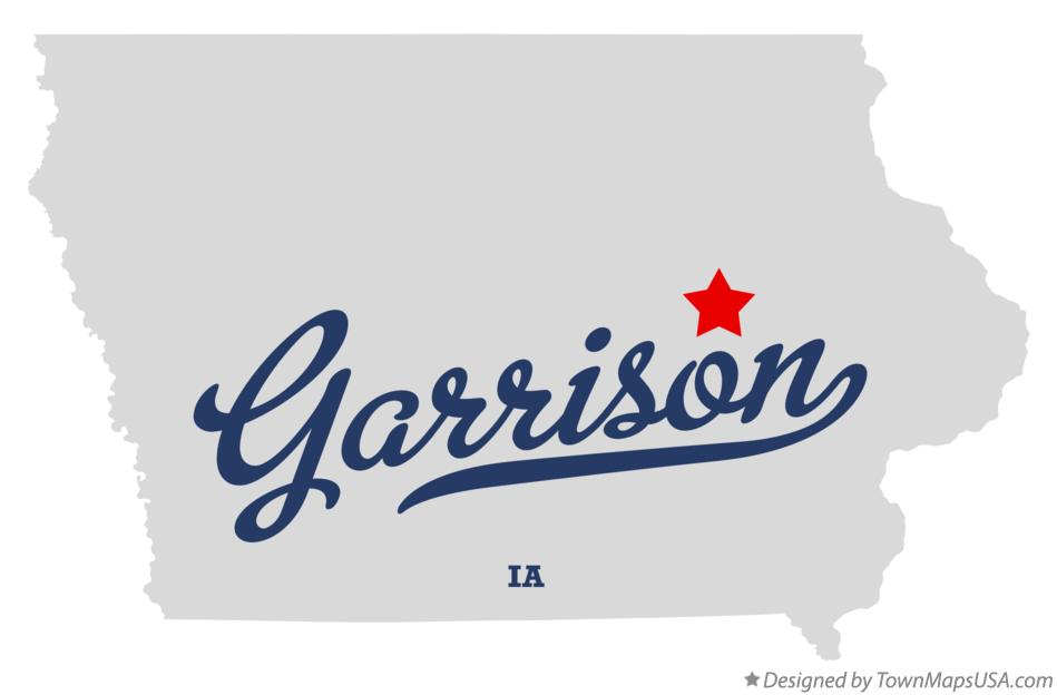 Map of Garrison Iowa IA