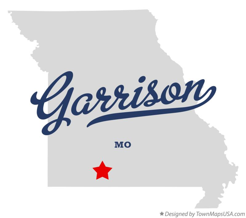 Map of Garrison Missouri MO