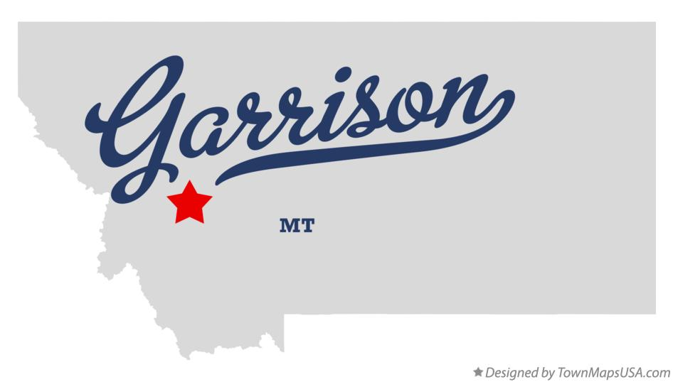 Map of Garrison Montana MT