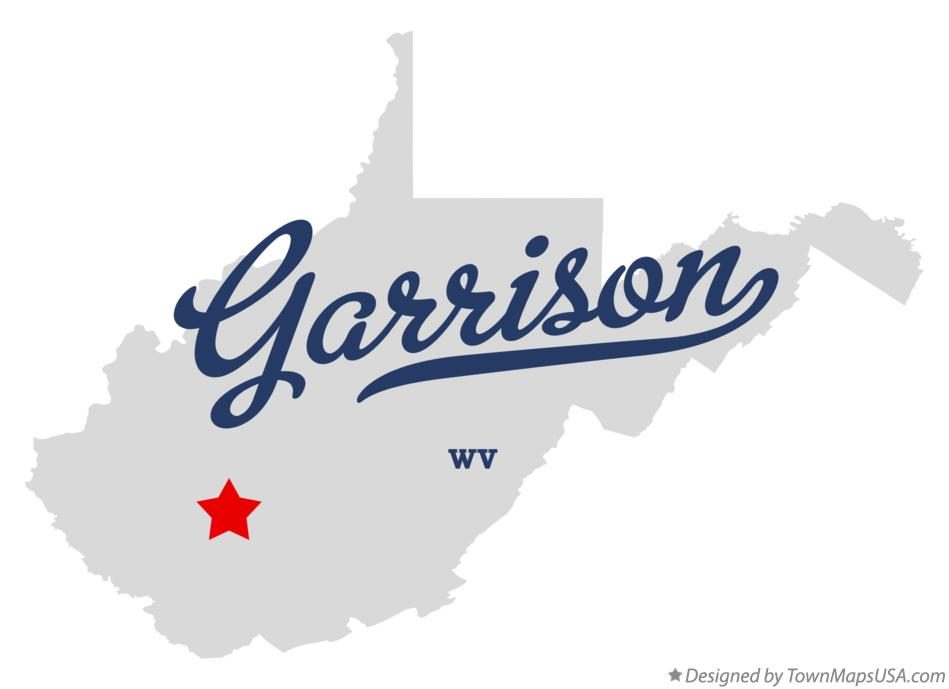 Map of Garrison West Virginia WV