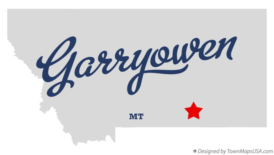 Map of Garryowen Montana MT
