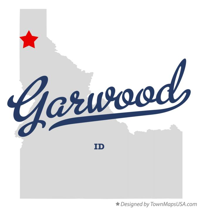 Map of Garwood Idaho ID