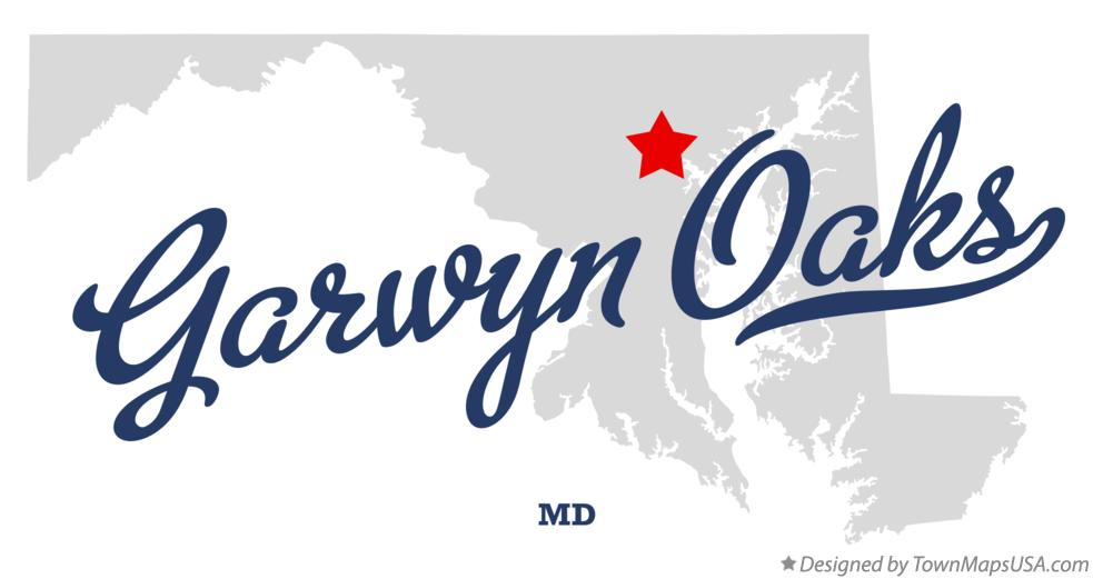 Map of Garwyn Oaks Maryland MD