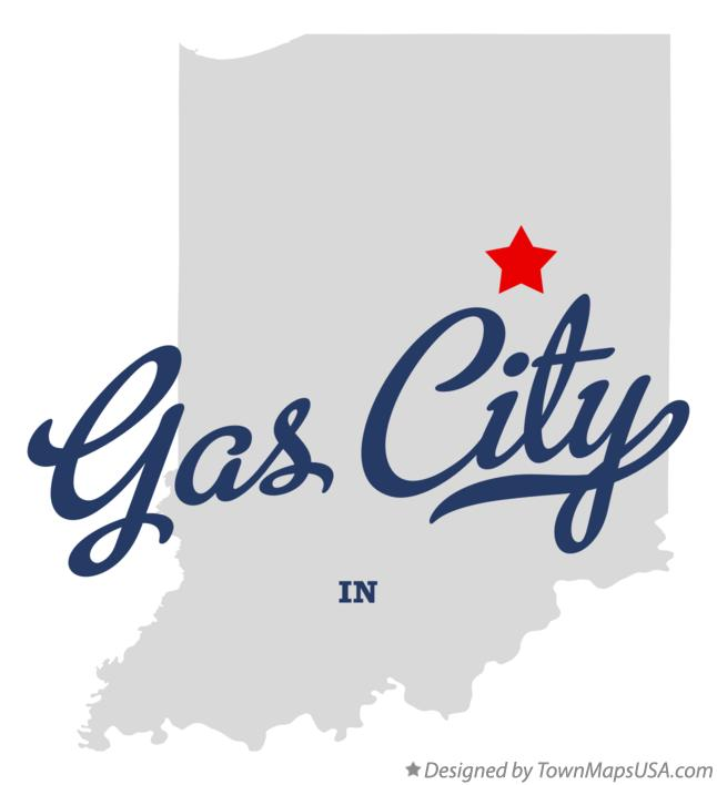 Map of Gas City Indiana IN