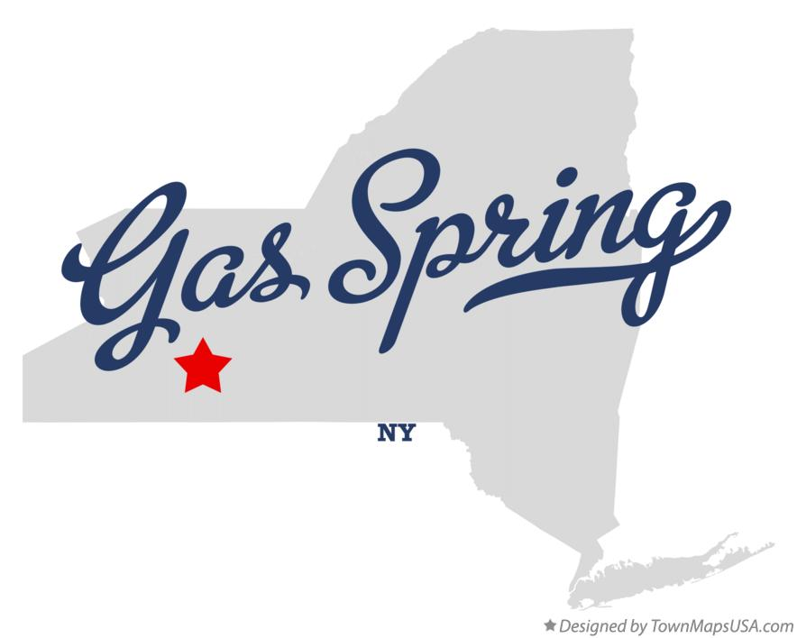Map of Gas Spring New York NY