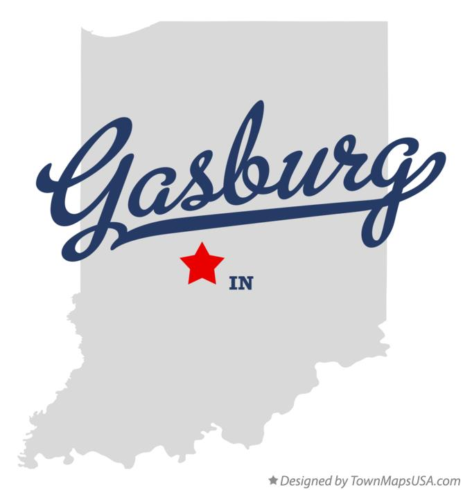 Map of Gasburg Indiana IN
