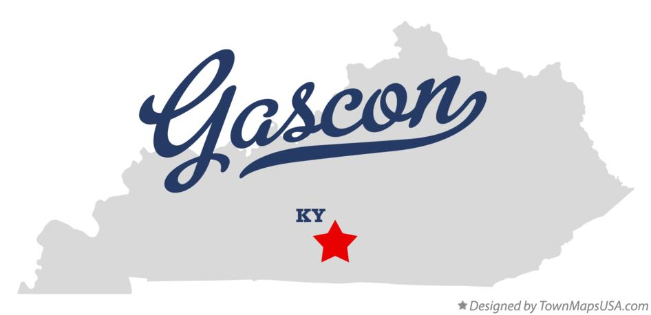 Map of Gascon Kentucky KY