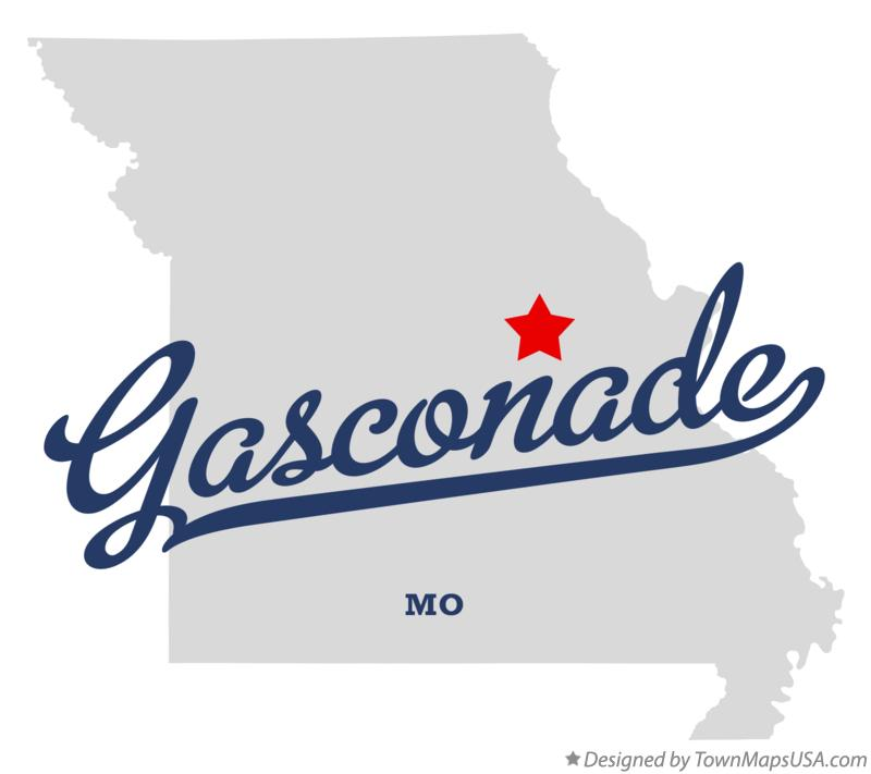 Map of Gasconade Missouri MO