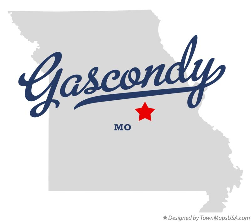 Map of Gascondy Missouri MO