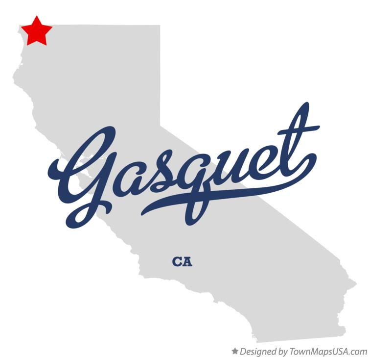 Map of Gasquet California CA