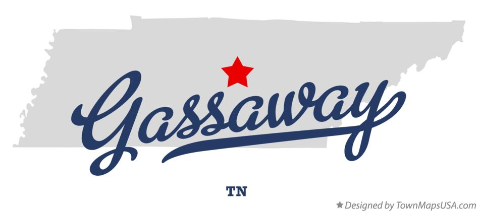 Map of Gassaway Tennessee TN