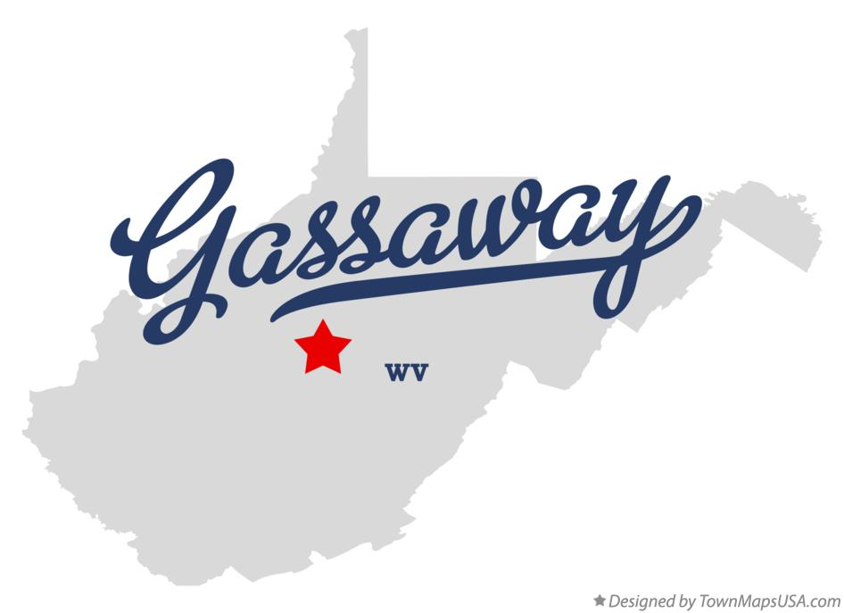 Map of Gassaway West Virginia WV