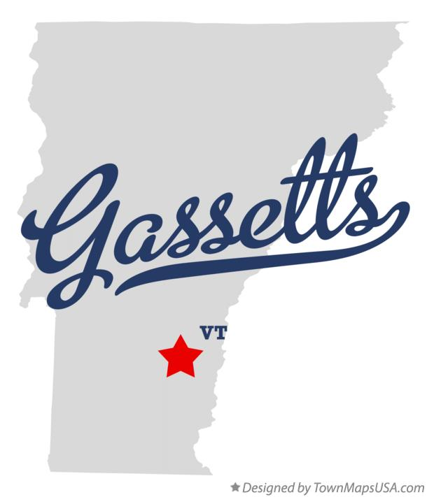 Map of Gassetts Vermont VT