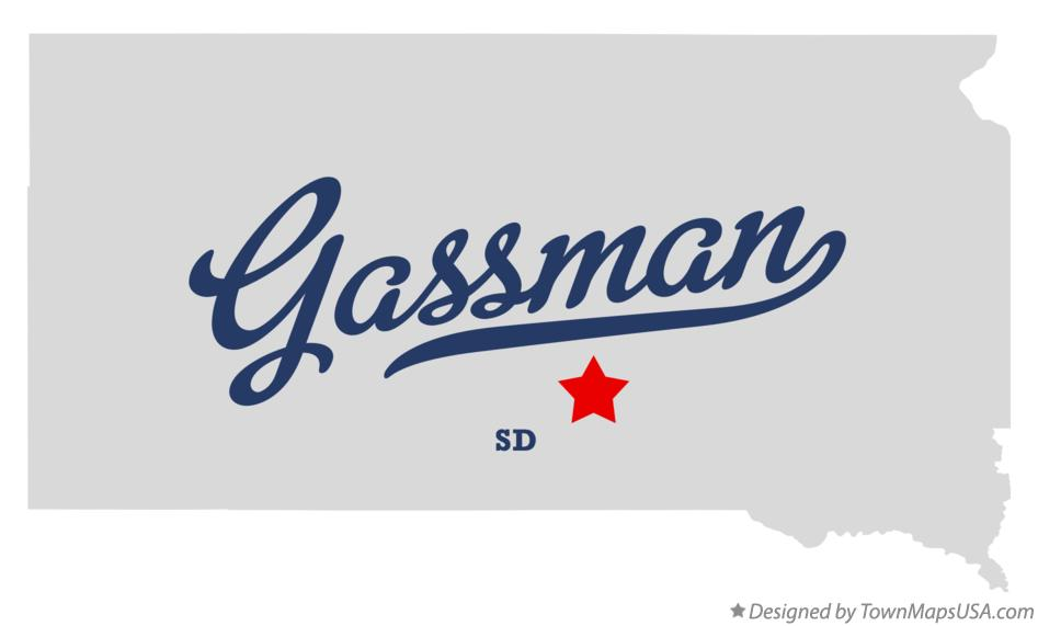 Map of Gassman South Dakota SD