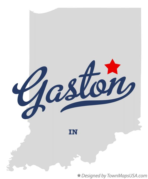 Map of Gaston Indiana IN