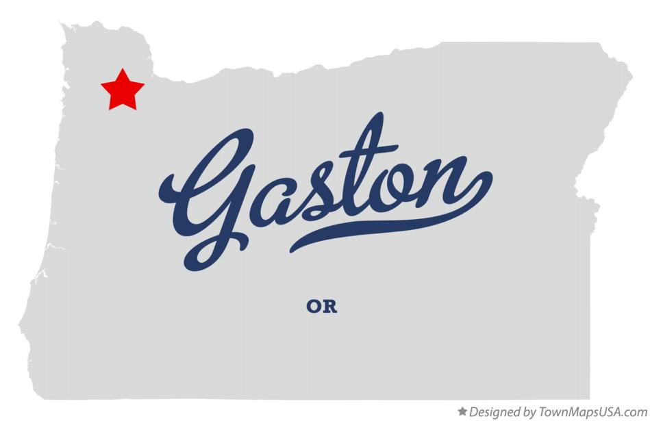 Map of Gaston Oregon OR