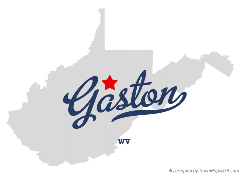 Map of Gaston West Virginia WV