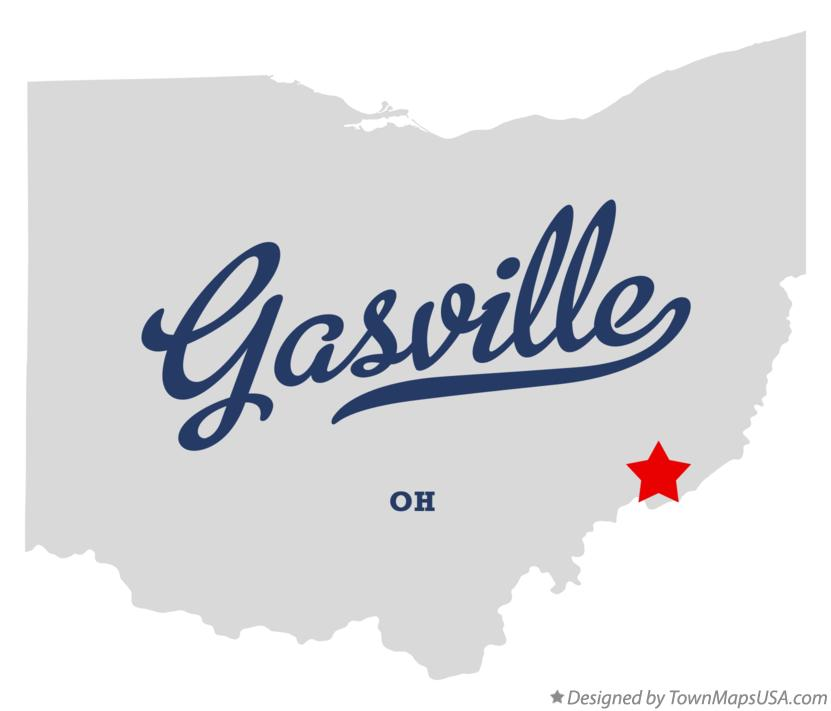 Map of Gasville Ohio OH