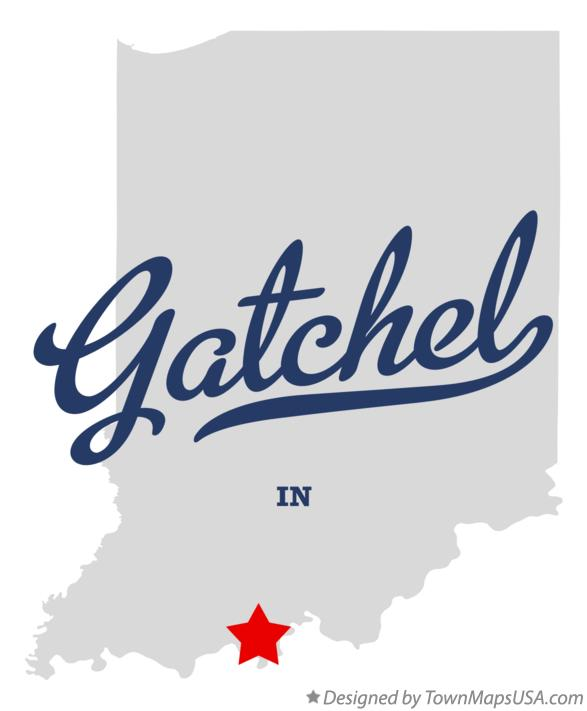 Map of Gatchel Indiana IN