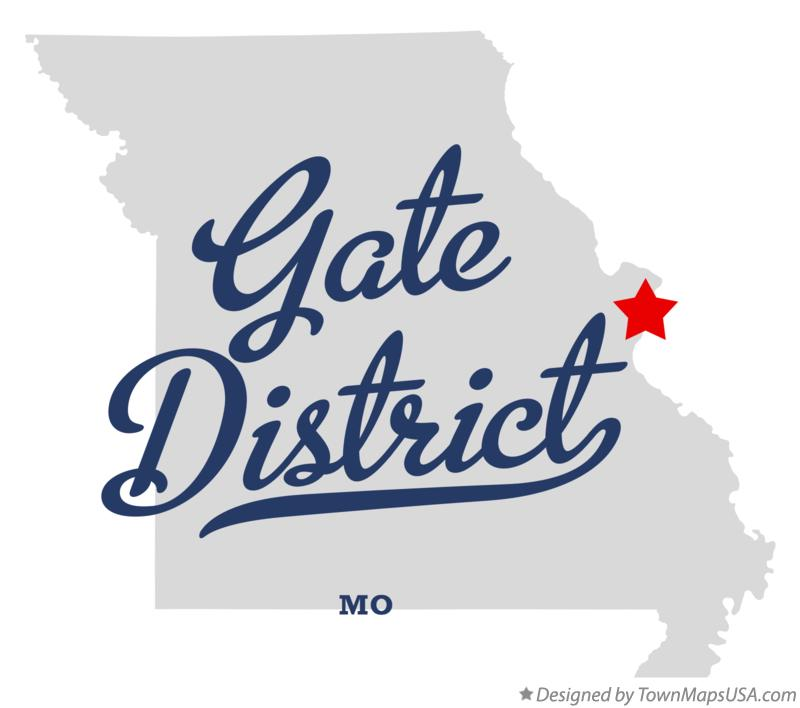 Map of Gate District Missouri MO