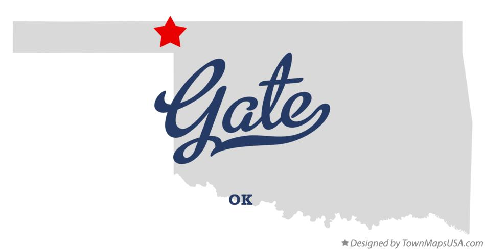 Map of Gate Oklahoma OK
