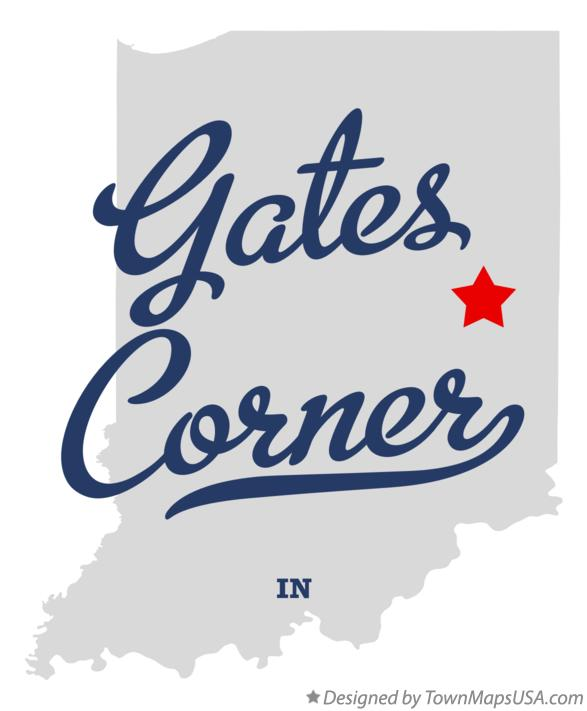 Map of Gates Corner Indiana IN
