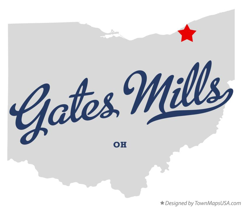 Map of Gates Mills Ohio OH