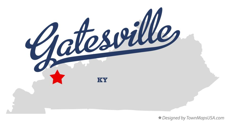 Map of Gatesville Kentucky KY