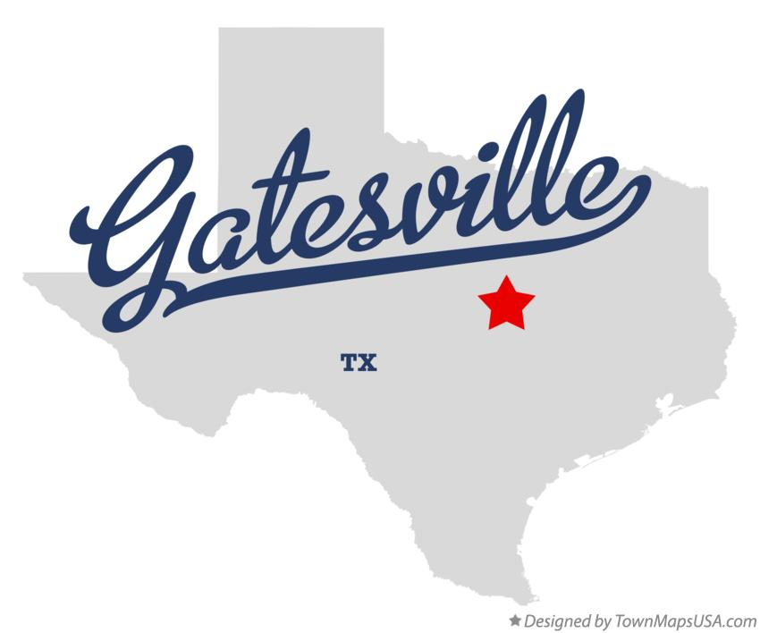 Map of Gatesville Texas TX