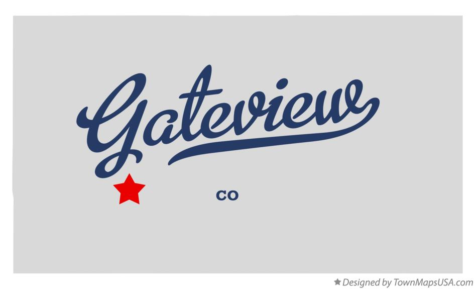 Map of Gateview Colorado CO