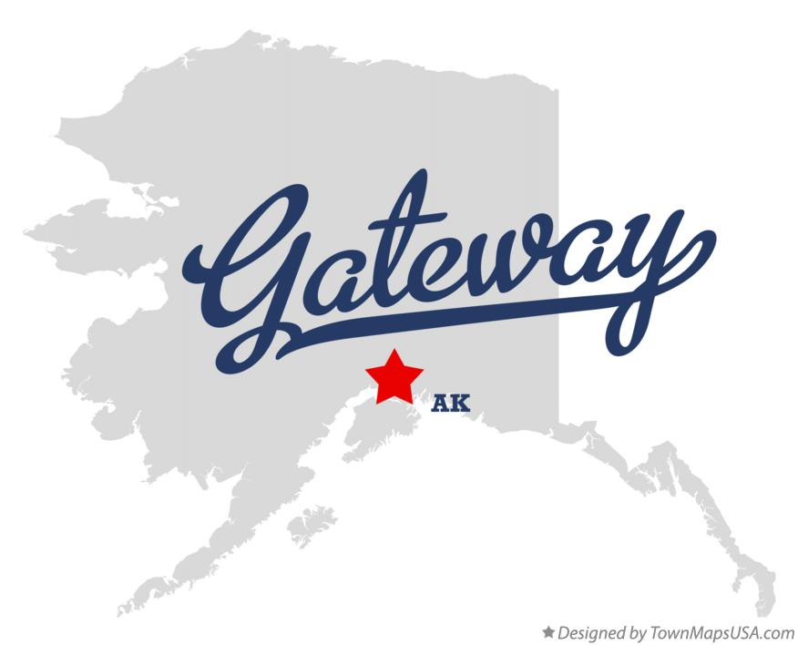 Map of Gateway Alaska AK