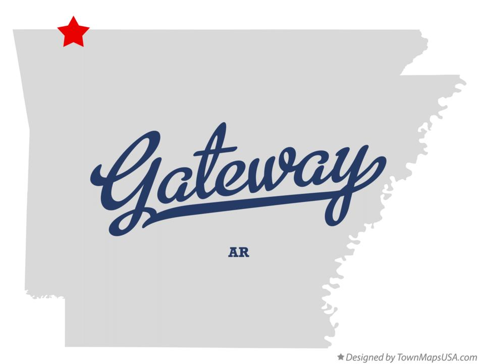 Map of Gateway Arkansas AR