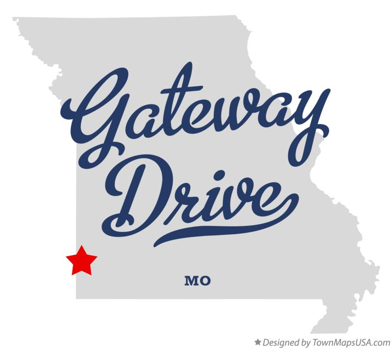 Map of Gateway Drive Missouri MO
