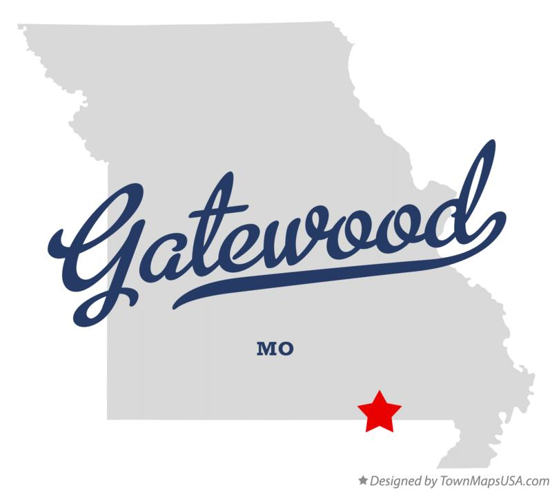 Map of Gatewood Missouri MO