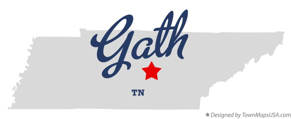 Map of Gath Tennessee TN