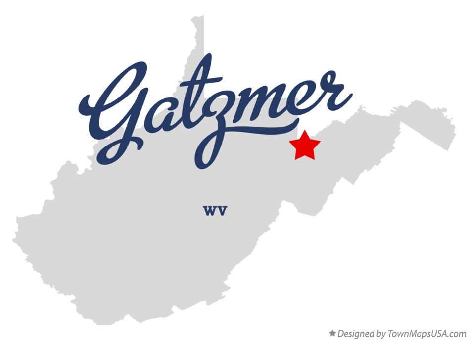 Map of Gatzmer West Virginia WV