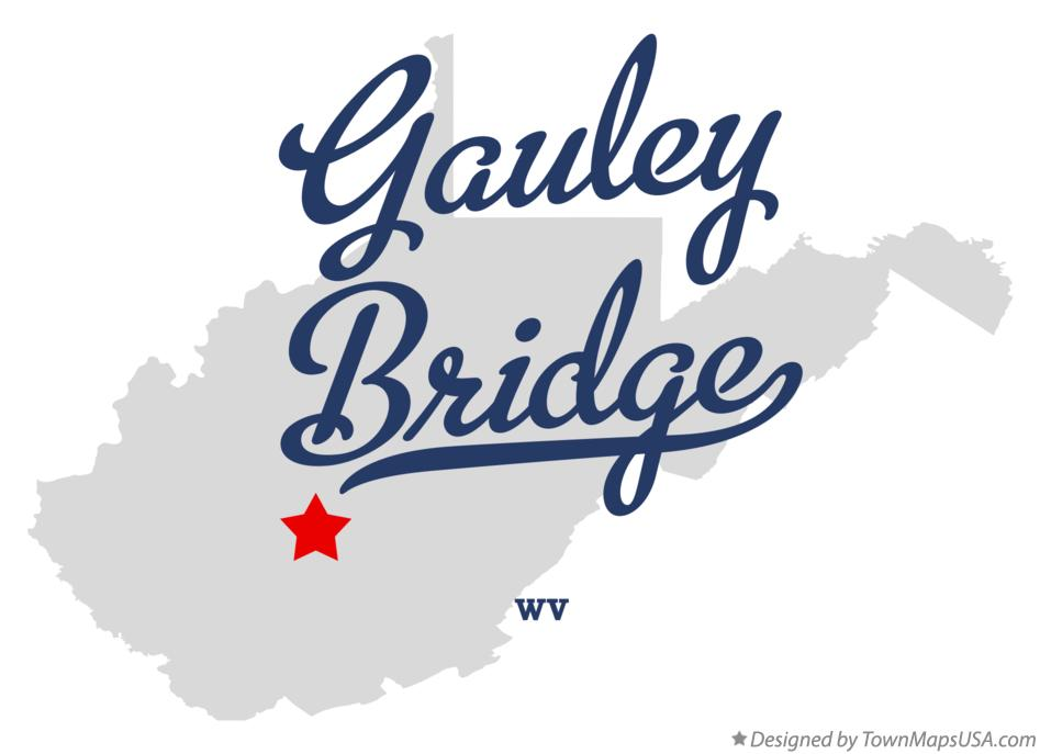 Map of Gauley Bridge West Virginia WV