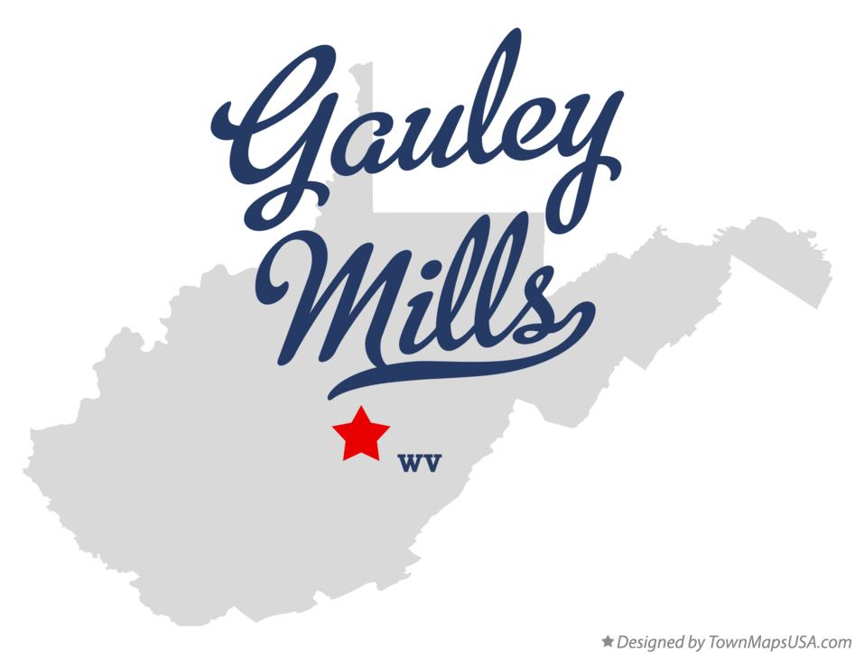 Map of Gauley Mills West Virginia WV