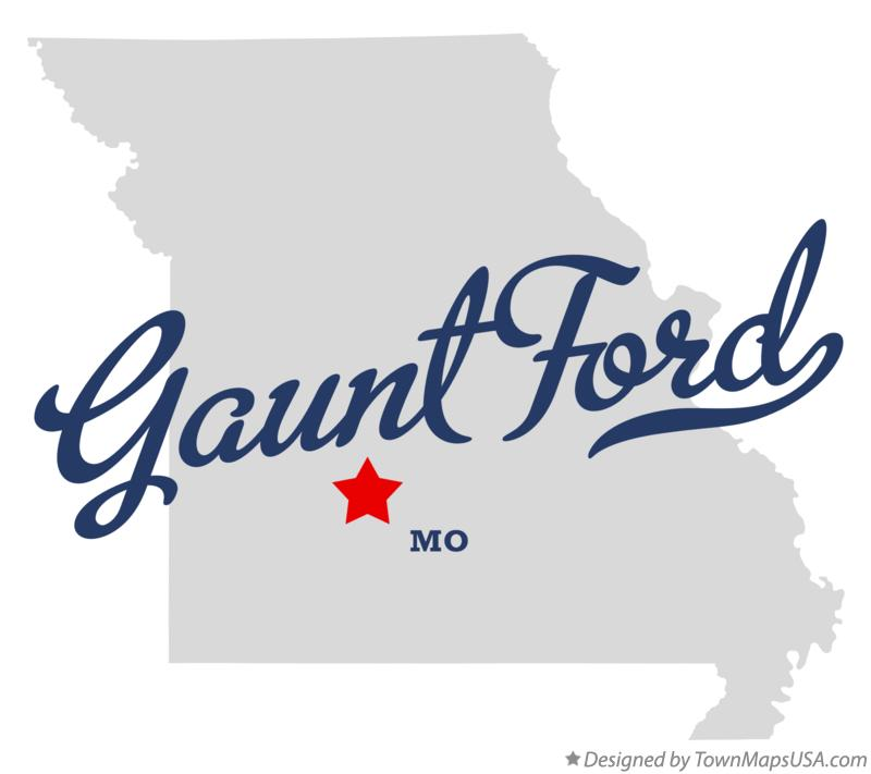 Map of Gaunt Ford Missouri MO