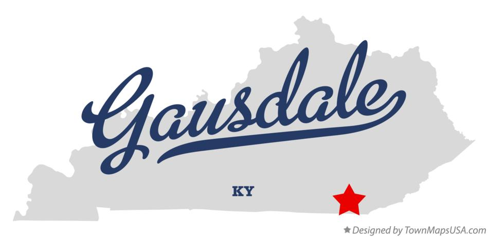 Map of Gausdale Kentucky KY