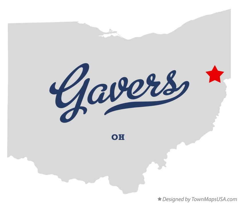 Map of Gavers Ohio OH