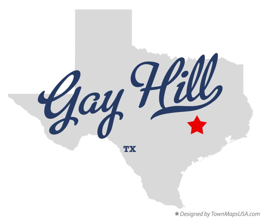 Map of Gay Hill Texas TX