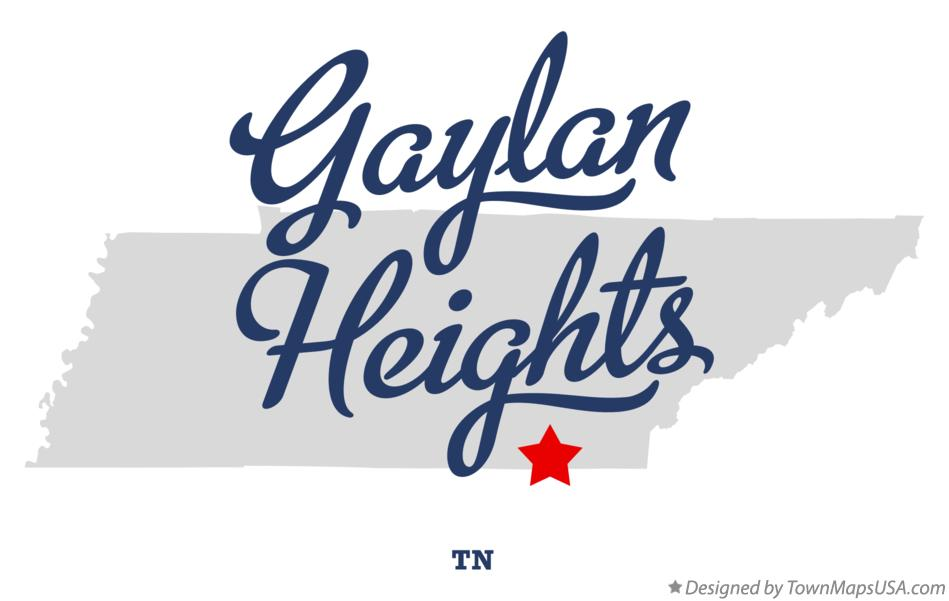 Map of Gaylan Heights Tennessee TN