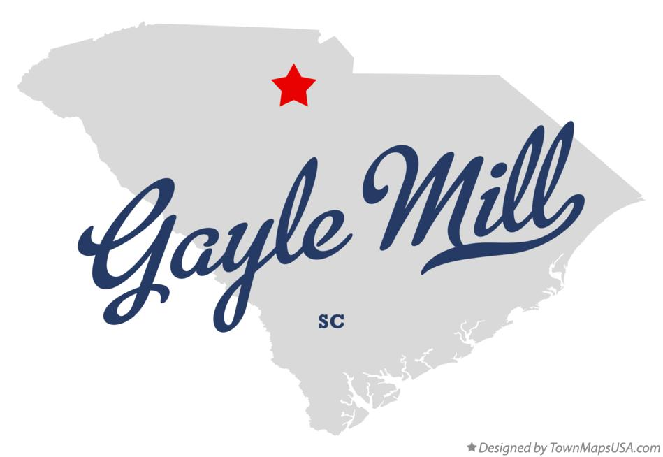 Map of Gayle Mill South Carolina SC