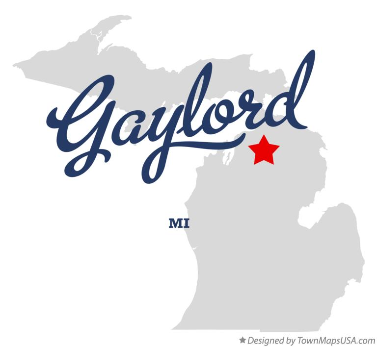 Map of Gaylord Michigan MI